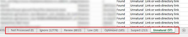URL Profiler Exported Tabs