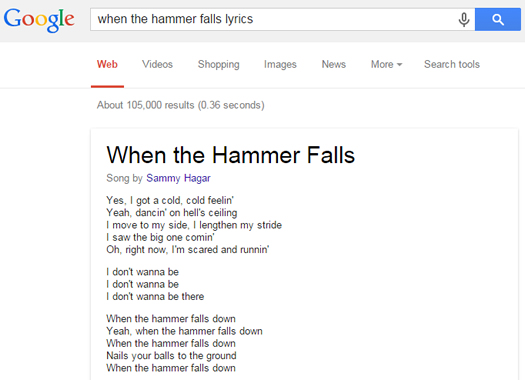 Lyrics in Google SERPs Finally Arrive on December 19, 2014
