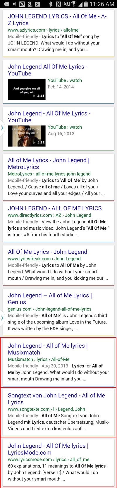 Mobile Friendly Algorithm All Of Me Smartphone SERPs