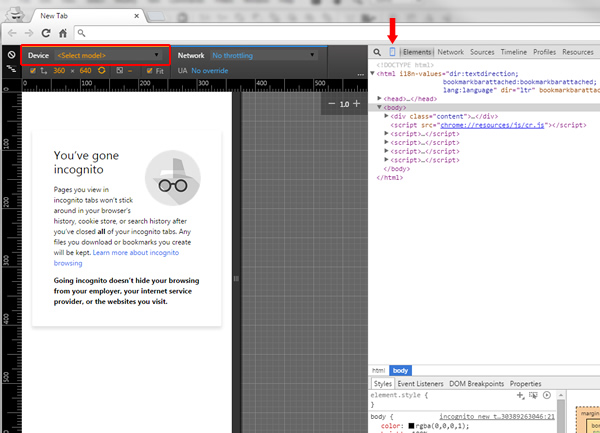 Checking Mobile Rankings Using Chrome Developer Tools