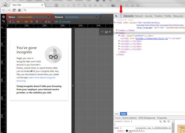 Checking Mobile Rankings Using Chrome Developer Tools