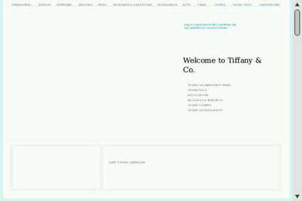 Tiffany's content not rendering on mobile browsers.