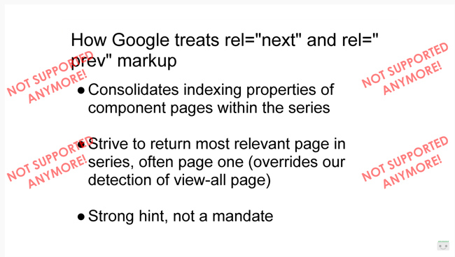 Former Googler Maile Ohye's video covering pagination SEO best practices.