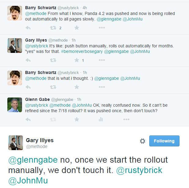 Gary Illyes Clarifies Panda 4.2 Rollout