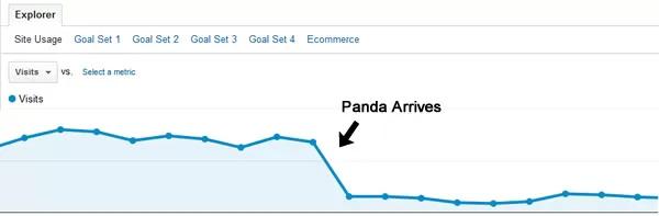 Panda Drop in Traffic