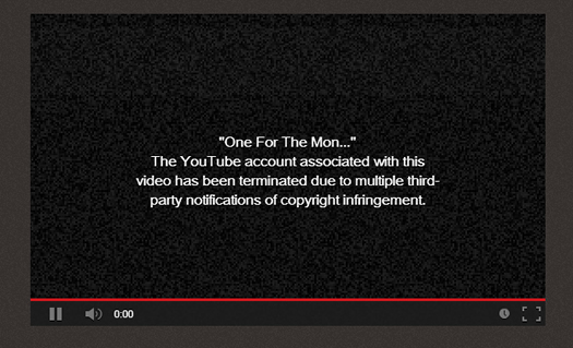 Copyright Infringement Notice for YouTube Videos