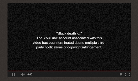 More Copyright Infringement Notice for YouTube Videos