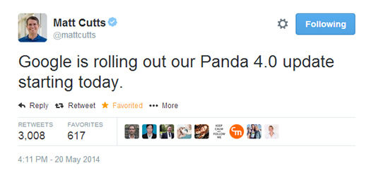 Matt Cutts Announces Panda 4.0