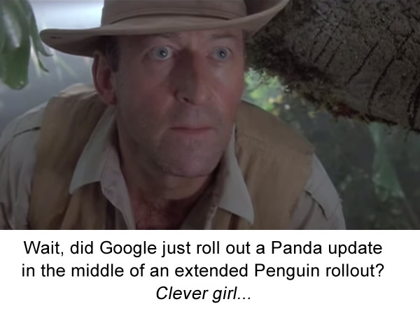 Panda During Penguin - Clever Girl