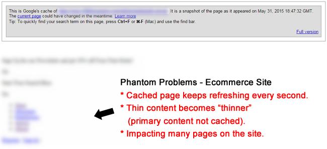 Ecommerce Site with Phantom Problems