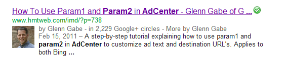 Author Details in the SERPs