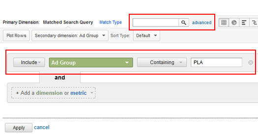 Filtering Product Listing Ads in Google Analytics