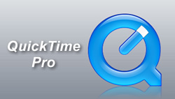 QuickTime Pro, the handy video tool from Apple.