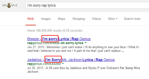 Rap Genius I'm Sorry