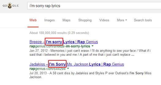 Rap Genius I'm Sorry
