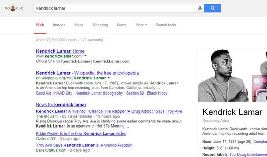 Rap Genius Artist Keywords