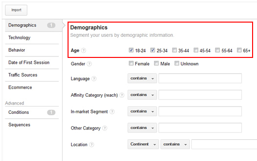Creating Remarketing Lists Based on Demographics