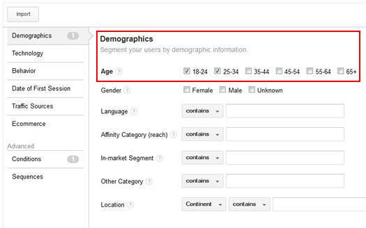 Creating Remarketing Lists Based on Demographics