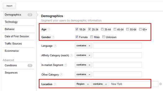 Combining Demographics to Create Advanced Remarketing Lists