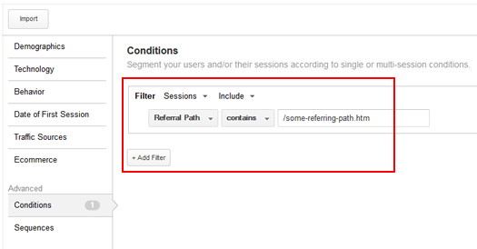 Using Referring Path to Create Remarketing Lists