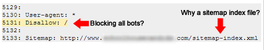 Unnecessary sitemap index file in robots.txt