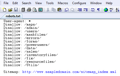 Sample Robots.txt File