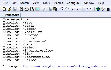 Sample Robots.txt File