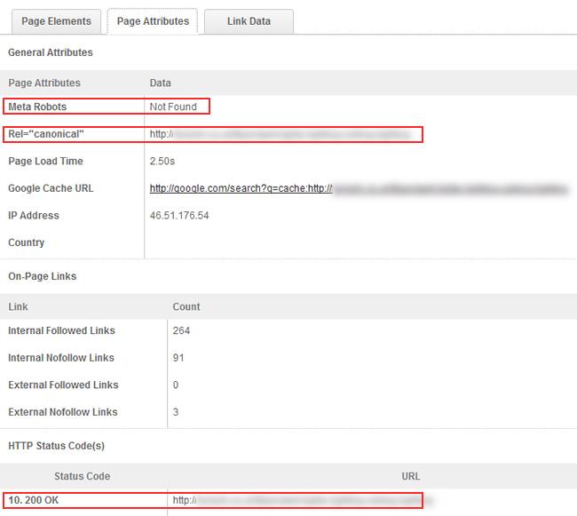 Using Mozbar to identify technical seo problems.