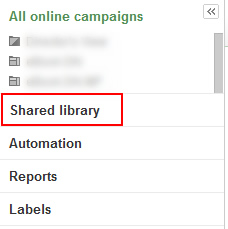 Shared Library in AdWords