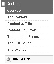 Clicking Site Search in Google Analytics