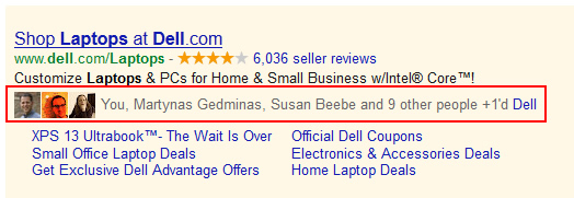 Social Extensions in Google AdWords