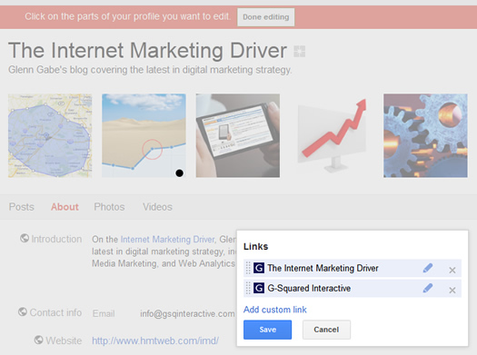 Linking a Google+ Page Back to a Website