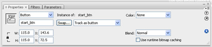 Give your button in flash an instance name.
