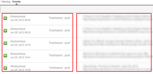 Viewing Trackbacks in Google Analytics Social Reports