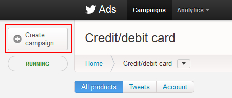 Create a keyword targeting campaign in Twitter Ads