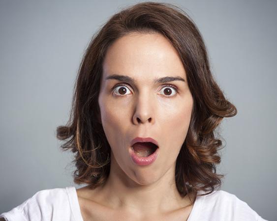 Woman shocked.