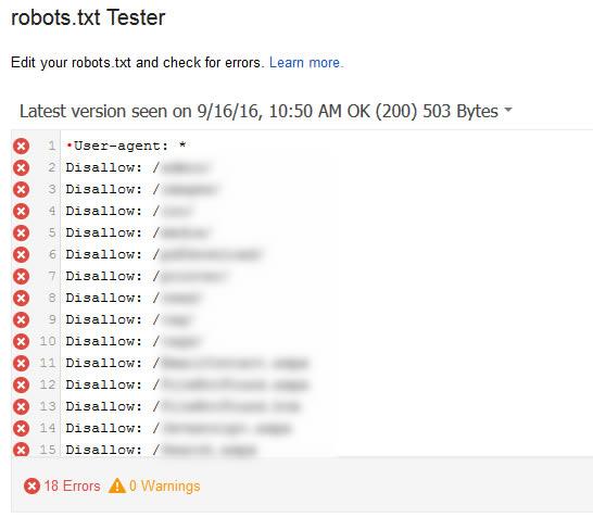 UTF8-BOM in robots.txt Tester in GSC