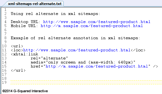 Rel Alternate in XML Sitemaps